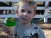 Cole and his cupcake