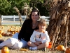 Mommy and Sarah in the pumpkin patch