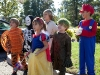 Sarah and her friends at the Montessori Halloween parade