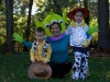 Calla, Karen, Quinn (Karen is one of the aliens from Toy Story, Quinn is Woody.