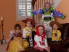 The kids in costume